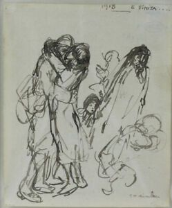 Theophile-Alexandre-Steinlen-Swiss-1859-1923-Works-on-Figural-Paper