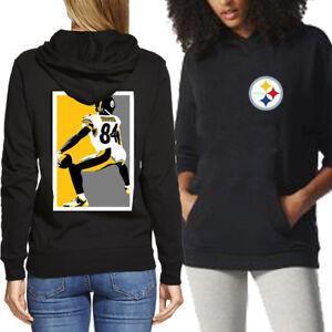 Image is loading Pittsburgh-Steelers-Hoodie-Black-Two-Sides-Longsleeve- Hoodie- 662179d413