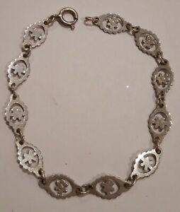 Vintage-Sterling-Silver-Bracelet-7-inches-length