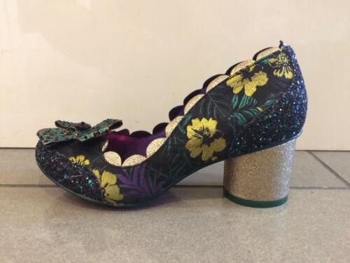 """Mi Talon Floral Paillettes Chaussures POETIC LICENCE Par IRREGULAR CHOICE /""""Queenie/"""" C"""