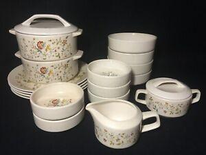 LENOX-Temper-ware-034-Merriment-034-Plates-Bowls-Casseroles-Cream-amp-Sugar-USA