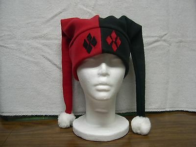 Harley Quinn Fleece Jester Hat NEW