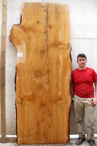 Image Is Loading Incense Cedar Live Edge Raw Wood Slab Dining