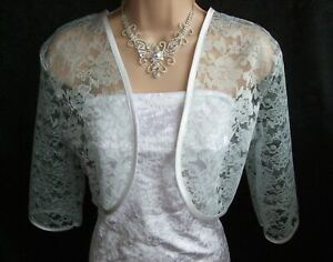 Sizes 12-14 16-18 20-22 Lace Shrug 3 Colours Shrug