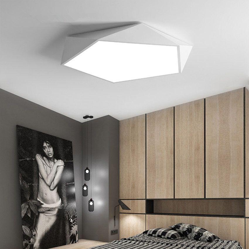 Led Ceiling Lamp Geometric Lighting Home Decoration Modern Bedroom Decor