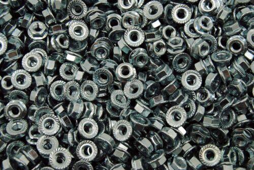 Zinc Plated 500 Metric Serrated Flange M6-1.0 Hex Lock Nuts
