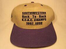 VINTAGE HAT Mens Cap SOUTHWESTERN Back to Back K.C.A.C. CHAMPS 1997 1998 [Z5c]
