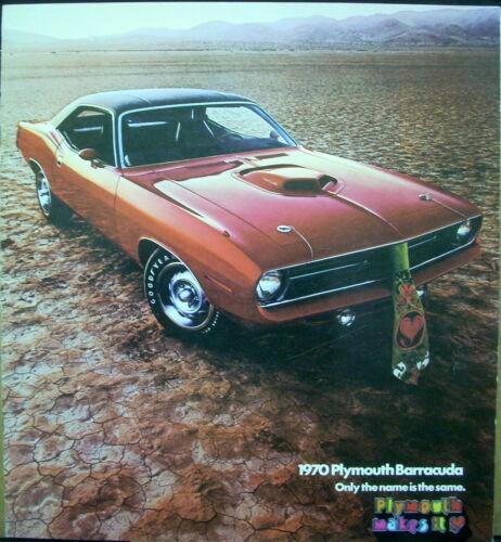 1970 Plymouth Barracuda Cuda 426 Hemi 440+6 Color Original Dealer Sales Brochure