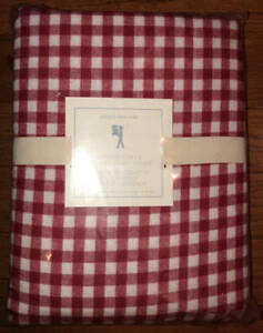 New Pottery Barn Buffalo Check Red Flannel Duvet Cover F Q