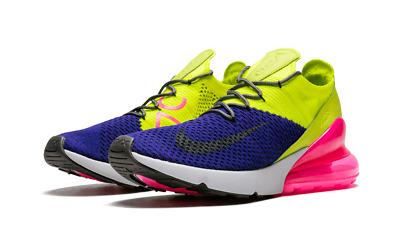New Nike Air Max 270 Flyknit Purple Grey Volt NWT