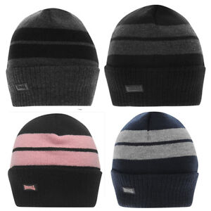 Beanie-Lonsdale-Turn-Up-Hat-Adult-Size-Black-Grey-Blue-Navy-Pink-Winter-Snow-New