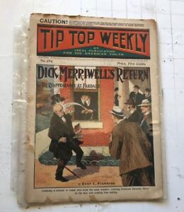 tip-top-weekly-no-494-1905-sept-Dime-Novel-Magazine-dick-merriwell-039-s-return-pulp