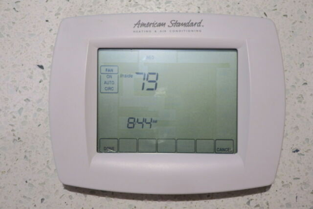 American Standard Touchscreen Thermostat For Heating  Air