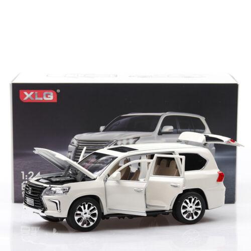 1:24 Lexus lx570 SUV Car Model Toy Diecast  Luminous Pullback Gift F Collection