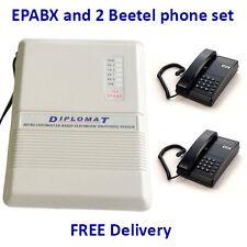 Diplomat EPABX 104 Intercom System and 2 Beetel Phone set