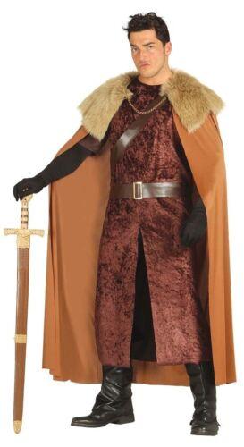 Da Uomo Adulto HIGHLANDS Lord del Nord Medievale Costume vestito M-XL