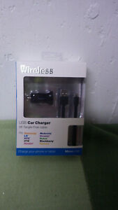 Just-Wireless-USB-Car-Charger-5ft-Fits-Samsung-LG-Motorolla-Etc-New