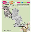 Stampendous House Mouse Cling Rubber Stamp - Stack of Books Hmvc08