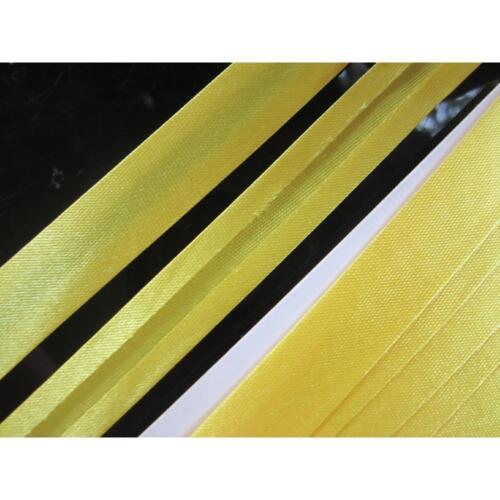 3 METER Schrägband Gelb  satin 1.5cm BA 54