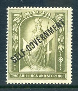 Malta-1922-Self-Govt-2sh6d-lightly-mounted-mint-with-varieties-2019-06-05-14