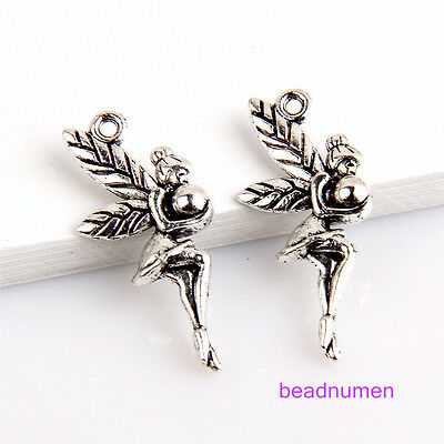 25pcs zinc alloy Jewelry making fairy pendants 23x11mm 1A1605