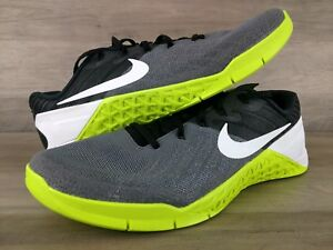 b3902061aad21 Details about Nike Metcon 3 Training Shoes Men's Size 11  Grey/Black/Volt/White 852928-001