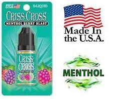 Criss Cross Vape Vapor USA 10ML Menthol Berry Blast 0 mg No Nicotine - $4.99