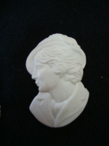Vintage 1 GR Bag Of Plastic White Lady in Hat Egg Decoration Easter Decor Paint