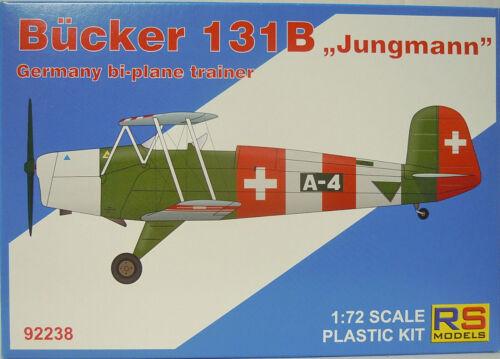 """International RS-Models Bücker Bü-131 B /""""Jungmann/"""" Neu 1:72 Plastik"""