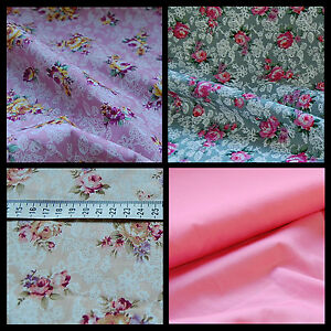 Image Is Loading Extra Wide 100 Cotton Fabric Lace Fl Cabbage