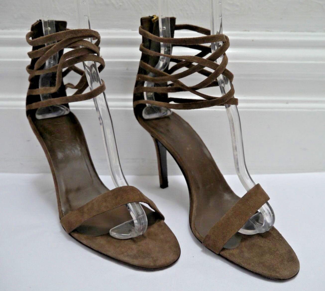 NEW TRACEY ROSS suede multi ankle strap heels Sandale Italian Größe 40