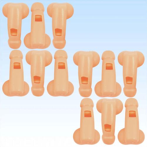 2 x 6 Penispfeifen Pfeifen in Form eines Penis Pfeiffe pfeiffen Scherzartikel