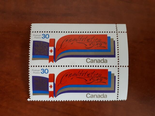 Canada 1982 #916 30c New Constitution single block of 2 Mint VFNH