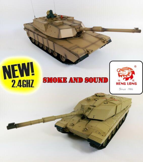 UK 2.4g Heng Long Funksteuerung RC Panzer Challenger 2 und Abrams m1a2 Doppelpack
