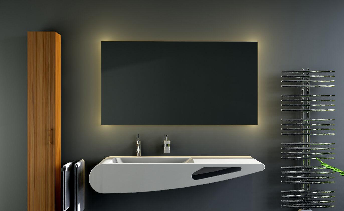 LED BAD SPIEGEL Badezimmerspiegel Badspiegel Wandspiegel Warmweiß Ambiente