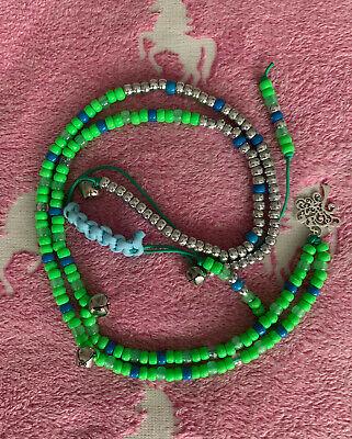 PURPLE//GREEN//BLACK Native American Inspired Horse//Pony Rhythm Beads