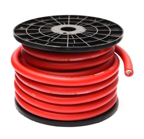 15M 65mm² 0 AWG Cable de alimentación rojo de gran tamaño alambre calibre 0 con 10 terminales de CCA