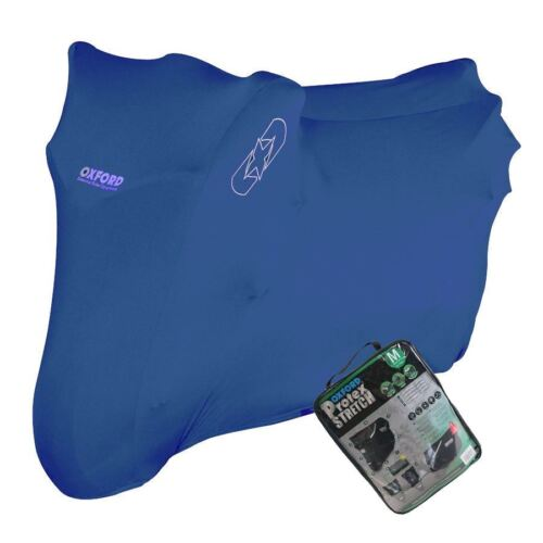 YAMAHA GIGGLE Oxford Protex Stretch Motorcycle Breathable Dust Cover Bike Blue