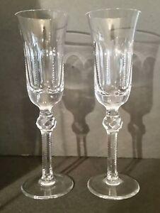 La Maison France Cut Crystal Stemware Operette Champagne Flutes Special Occasion Ebay