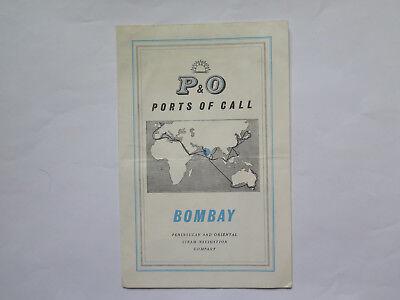 P & O STEAM NAVIGATION Co PORTS of CALL BROCHURE BOMBAY INDIA c1957 | eBay