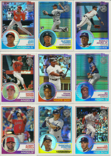 Acuna-Soto+ 2018 Topps Update SILVER PACK 1983 CHROME Complete Set 50 Cards