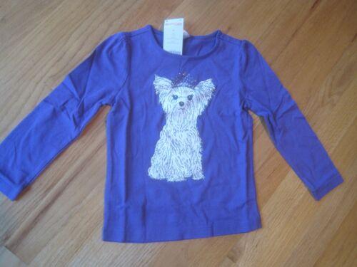 Girl GYMBOREE GLITTER CROWN TIARA YORKIE PUPPY DOG PURPLE shirt top NWT 4