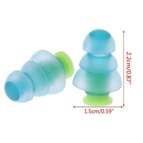Silicone earplugs noise cancelling reusable ear plugs hearing protection box/_hz