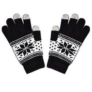 Mens-Touch-Screen-Smart-Gloves-Snowflake-Phone-Gloves-Knitted-Winter-Warmers