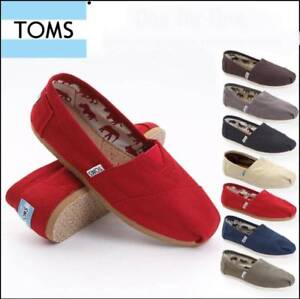 buy popular 9e1ec 02821 Details about Womens Tom Classic Scarpe di Tela Slip On Mens Tutte le  Taglie Mocassini Basse