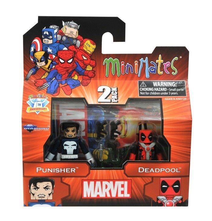 Marvel Minimates Best of Series 2 Punisher & Deadpool Mini Figure 2pk DST Toys