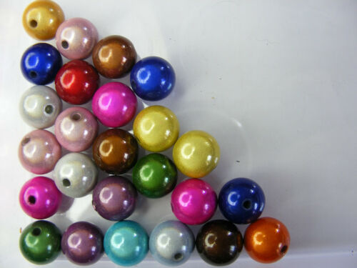 25 PERLES  MIRAGE//MIRACLE RONDE 12mm