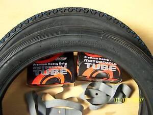 Honda-C50-C70-C90-Cub-C90Cub-Tyres-Inner-Tube-Rim-Tape-250-X-17-PAIR-OF-TYRES