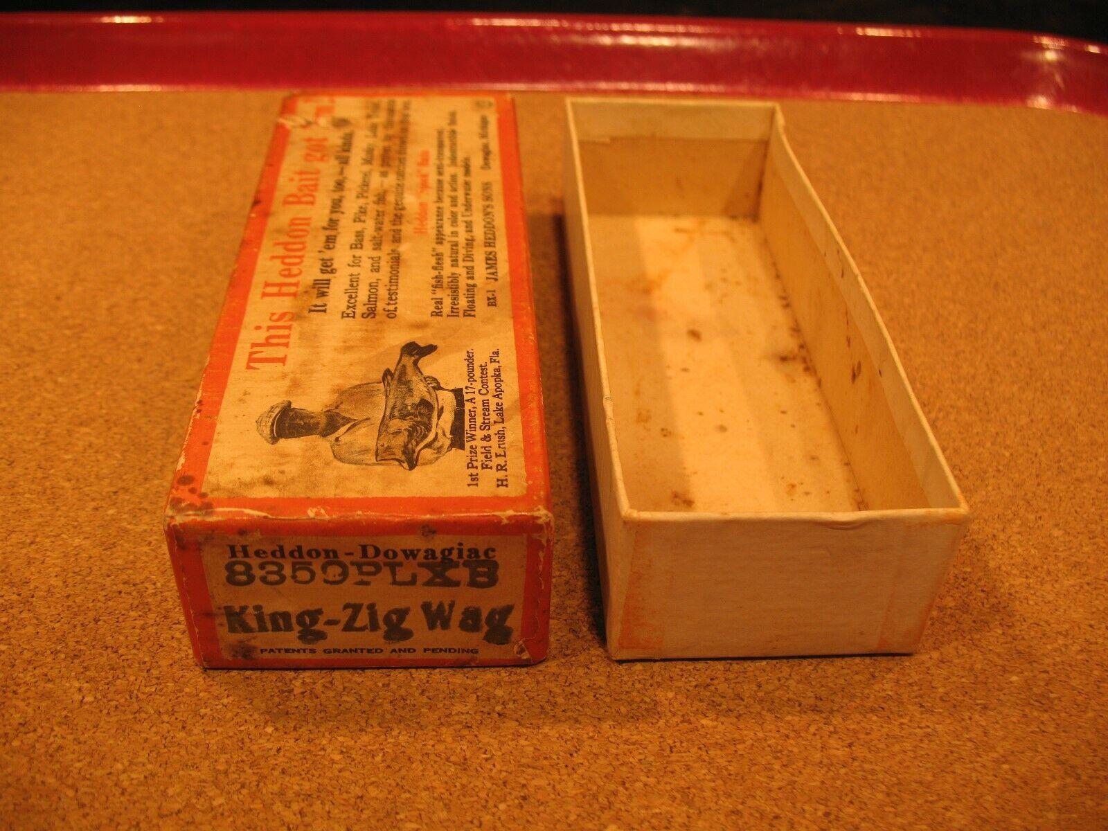 HEDDON 8359PLXB BRUSH BOX (only) KING  ZIG-WAG  blueE PEARL SHORE  Fishing Lure  shop clearance
