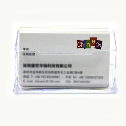 5 Stück Acryl transparente Tisch-Visitenkartenhalter Visitenkarten-Aufsteller